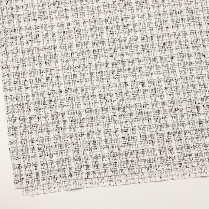 コットン&ポリエステル混×ミックス(オフホワイト&ブラック)×ファンシーツイード・ストレッチ イメージ2