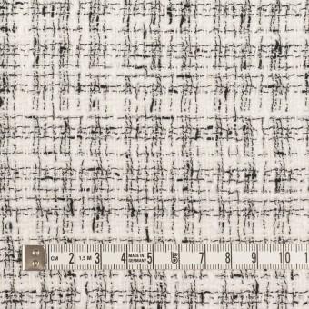 コットン&ポリエステル混×ミックス(オフホワイト&ブラック)×ファンシーツイード・ストレッチ サムネイル4