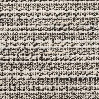 コットン&ポリエステル混×ミックス(エクリュ&ブラック)×ファンシーツイード サムネイル1
