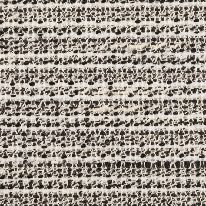 コットン&ポリエステル混×ミックス(エクリュ&ブラック)×ファンシーツイード イメージ1