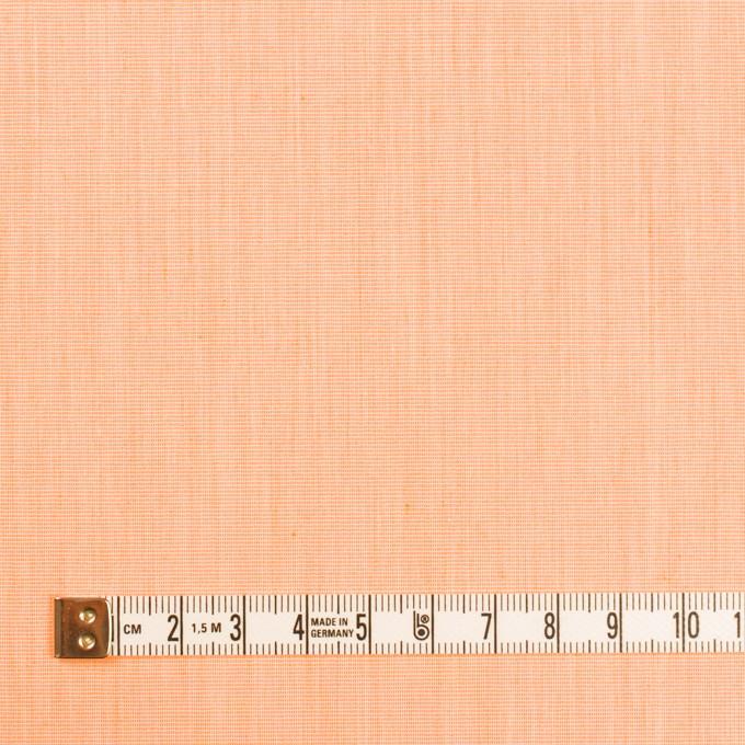 コットン&ナイロン混×無地(オレンジ)×シャンブレー・ローンストレッチ_全8色 イメージ4