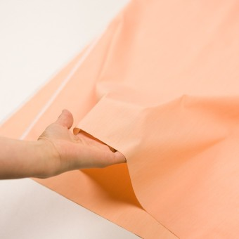 コットン&ナイロン混×無地(オレンジ)×シャンブレー・ローンストレッチ_全8色 サムネイル5
