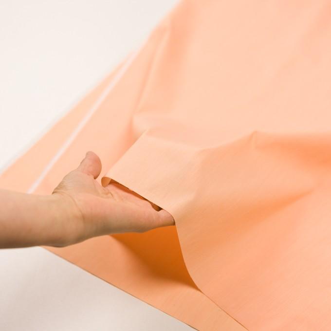 コットン&ナイロン混×無地(オレンジ)×シャンブレー・ローンストレッチ_全8色 イメージ5