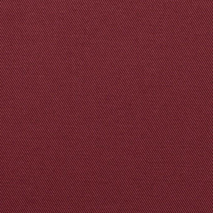 コットン&ポリウレタン×無地(バーガンディー)×チノクロス・ストレッチ イメージ1