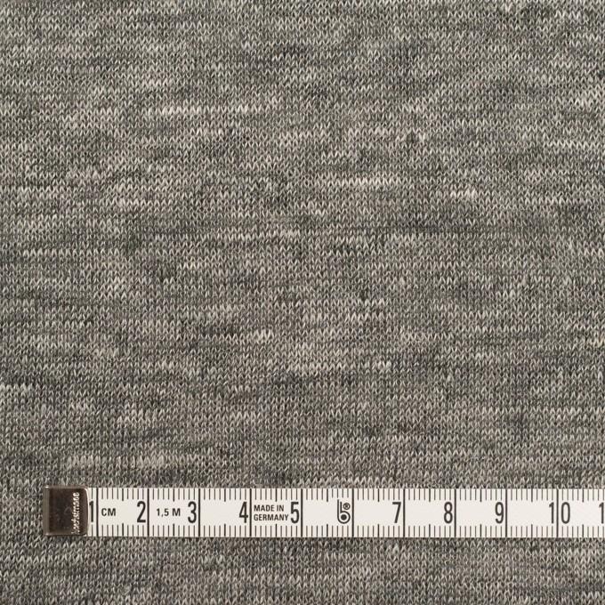 リネン&ナイロン×無地(チャコールグレー)×天竺ニット_全3色 イメージ4