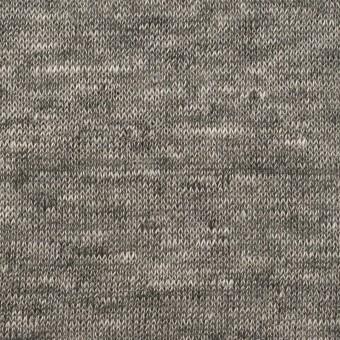 リネン&ナイロン×無地(チャコールグレー)×天竺ニット_全3色