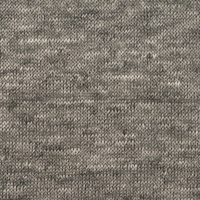 リネン&ナイロン×無地(チャコールグレー)×天竺ニット_全3色 イメージ1