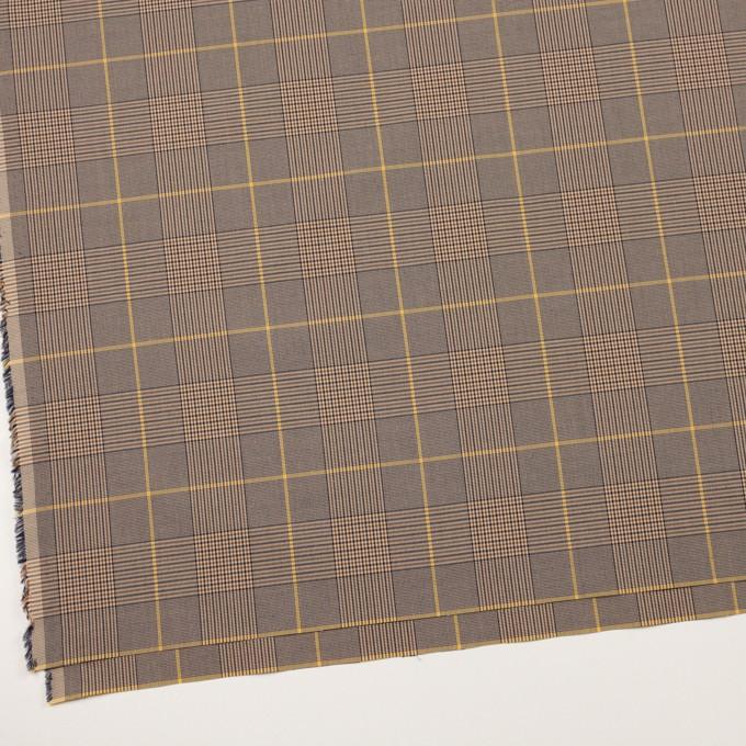 コットン×チェック(マスタード、ブラウン&ネイビー)×ローン イメージ2