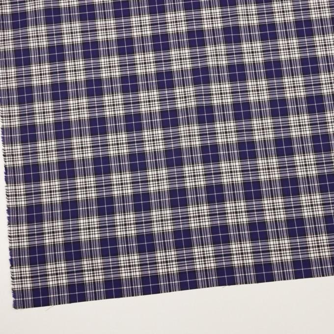 コットン×チェック(マリンブルー&ブラック)×ローン イメージ2