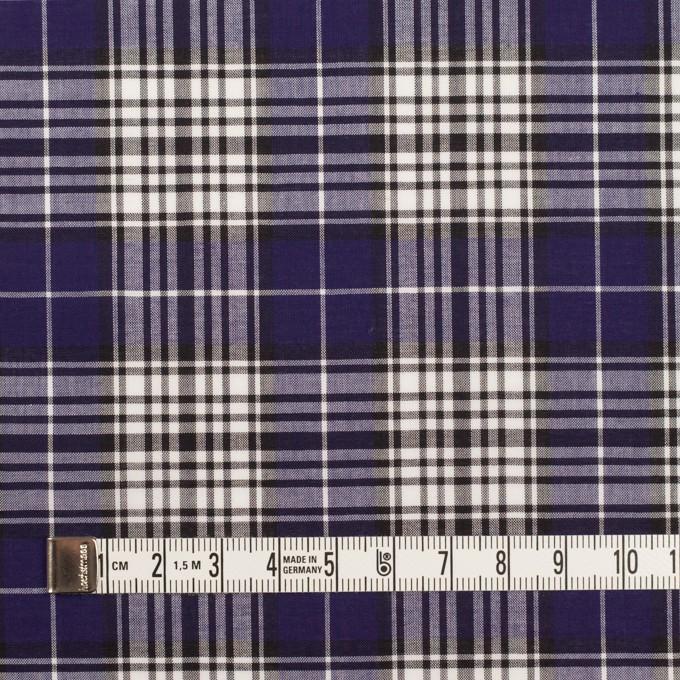 コットン×チェック(マリンブルー&ブラック)×ローン イメージ4