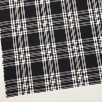 コットン&ポリエステル×チェック(ブラック&ホワイト)×ブロード サムネイル2