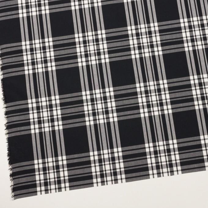 コットン&ポリエステル×チェック(ブラック&ホワイト)×ブロード イメージ2