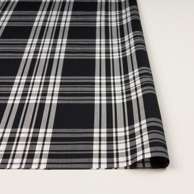 コットン&ポリエステル×チェック(ブラック&ホワイト)×ブロード イメージ3