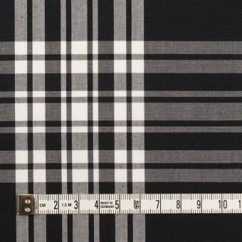 コットン&ポリエステル×チェック(ブラック&ホワイト)×ブロード サムネイル4