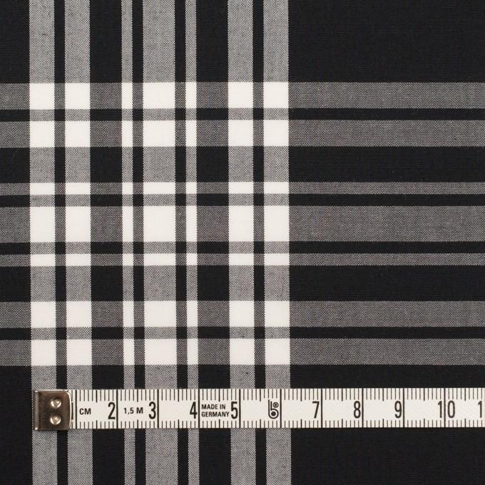 コットン&ポリエステル×チェック(ブラック&ホワイト)×ブロード イメージ4