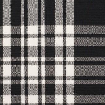 コットン&ポリエステル×チェック(ブラック&ホワイト)×ブロード