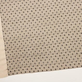 ポリエステル×チェック(ライトベージュ&ブラック)×ジョーゼット刺繍_全3色 サムネイル2