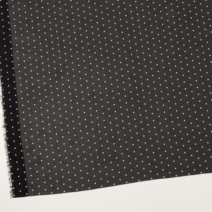 ポリエステル×ドット(ブラック)×ジョーゼット_全2色 イメージ2