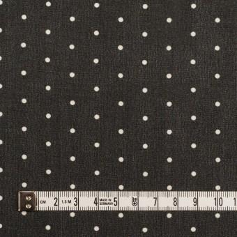 ポリエステル×ドット(ブラック)×ジョーゼット_全2色 サムネイル4