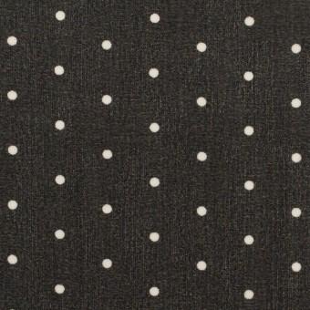 ポリエステル×ドット(ブラック)×ジョーゼット_全2色 サムネイル1