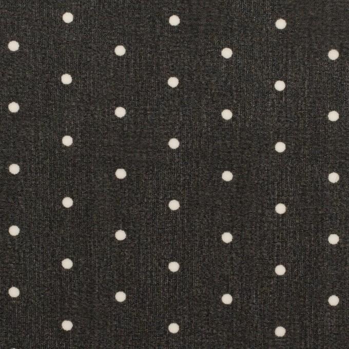 ポリエステル×ドット(ブラック)×ジョーゼット_全2色 イメージ1