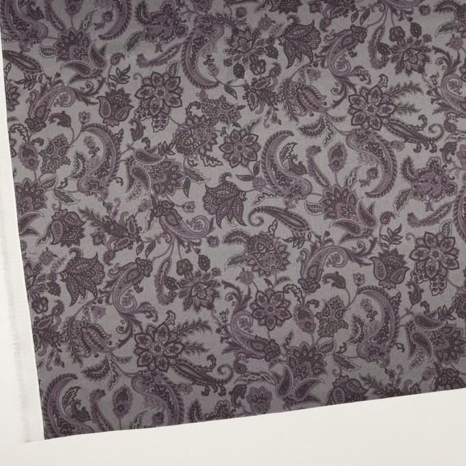 アセテート&ポリエステル×ペイズリー(チャコールグレー)×サテン_全3色 イメージ2