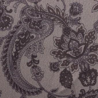 アセテート&ポリエステル×ペイズリー(チャコールグレー)×サテン_全3色