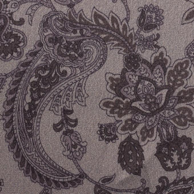アセテート&ポリエステル×ペイズリー(チャコールグレー)×サテン_全3色 イメージ1