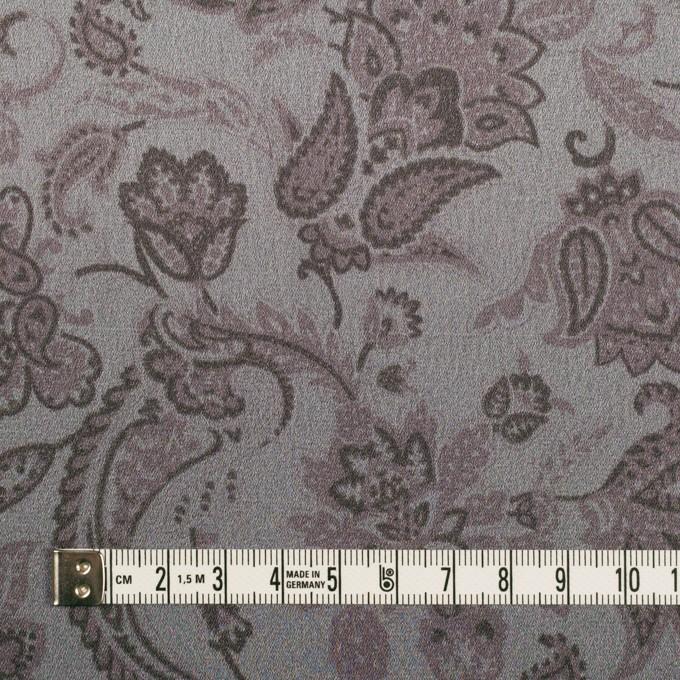 アセテート&ポリエステル×ペイズリー(スレートグレー)×サテン イメージ4