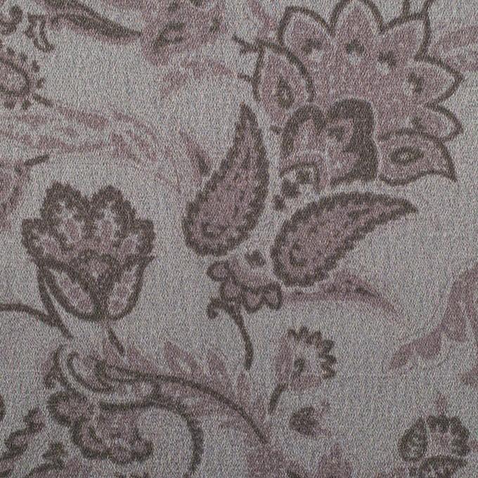 アセテート&ポリエステル×ペイズリー(スレートグレー)×サテン イメージ1