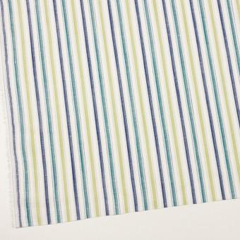 コットン&リネン×ストライプ(イエロー・グリーン、シーグリーン&ネイビー)×薄キャンバス・ジャガード_全2色 サムネイル2
