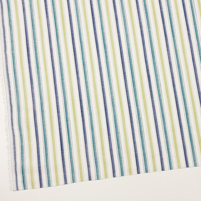 コットン&リネン×ストライプ(イエロー・グリーン、シーグリーン&ネイビー)×薄キャンバス・ジャガード_全2色 イメージ2