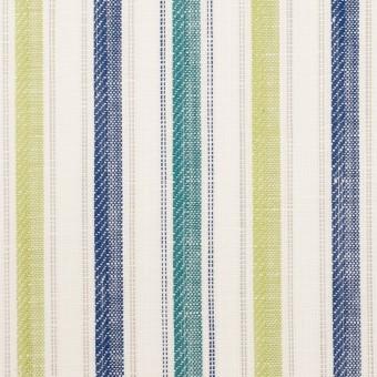 コットン&リネン×ストライプ(イエロー・グリーン、シーグリーン&ネイビー)×薄キャンバス・ジャガード_全2色