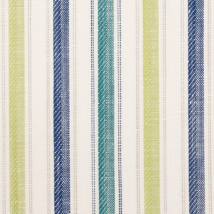 コットン&リネン×ストライプ(イエロー・グリーン、シーグリーン&ネイビー)×薄キャンバス・ジャガード_全2色 イメージ1
