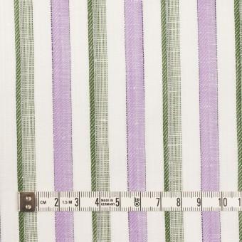 リネン&コットン×ストライプ(モーブ&カーキグリーン)×薄キャンバス・ジャガード サムネイル4