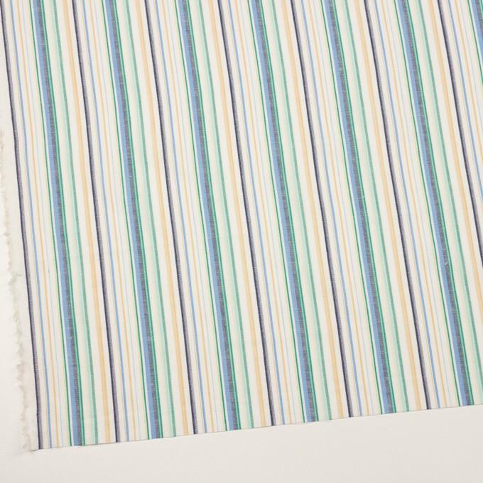 コットン&リネン×ストライプ(エメラルド、サックス&ネイビー)×薄キャンバス・ジャガード イメージ2