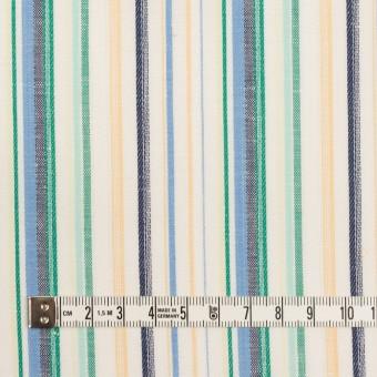 コットン&リネン×ストライプ(エメラルド、サックス&ネイビー)×薄キャンバス・ジャガード サムネイル4
