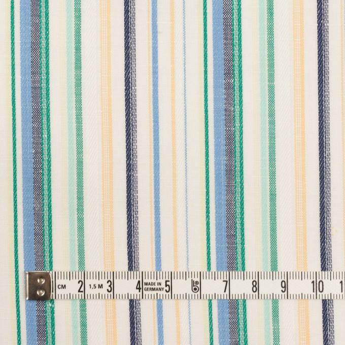 コットン&リネン×ストライプ(エメラルド、サックス&ネイビー)×薄キャンバス・ジャガード イメージ4
