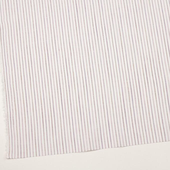 コットン&リネン×ストライプ(モーブ)×薄キャンバス イメージ2