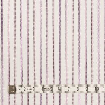 コットン&リネン×ストライプ(モーブ)×薄キャンバス サムネイル4