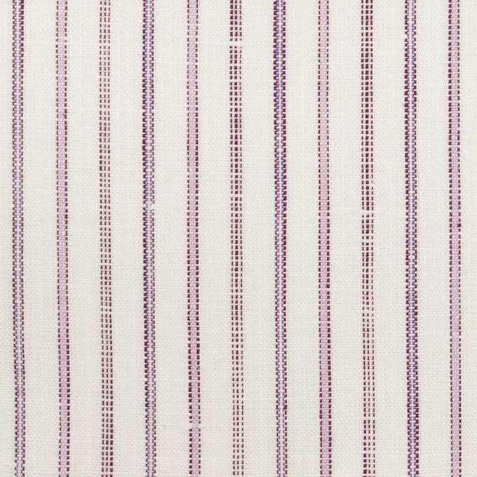 コットン&リネン×ストライプ(モーブ)×薄キャンバス イメージ1