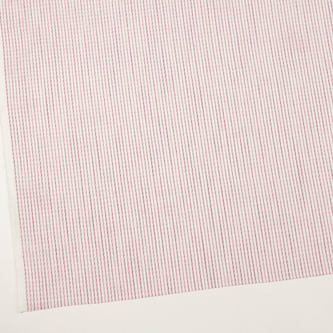 リネン&コットン×ストライプ(チェリーピンク)×薄キャンバス・ジャガード イメージ2