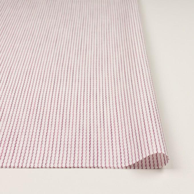 リネン&コットン×ストライプ(チェリーピンク)×薄キャンバス・ジャガード イメージ3