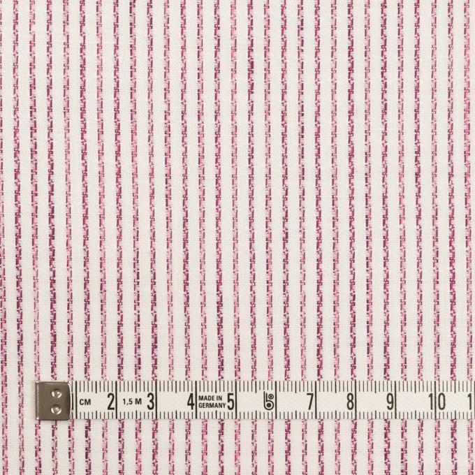 リネン&コットン×ストライプ(チェリーピンク)×薄キャンバス・ジャガード イメージ4