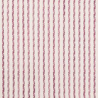 リネン&コットン×ストライプ(チェリーピンク)×薄キャンバス・ジャガード
