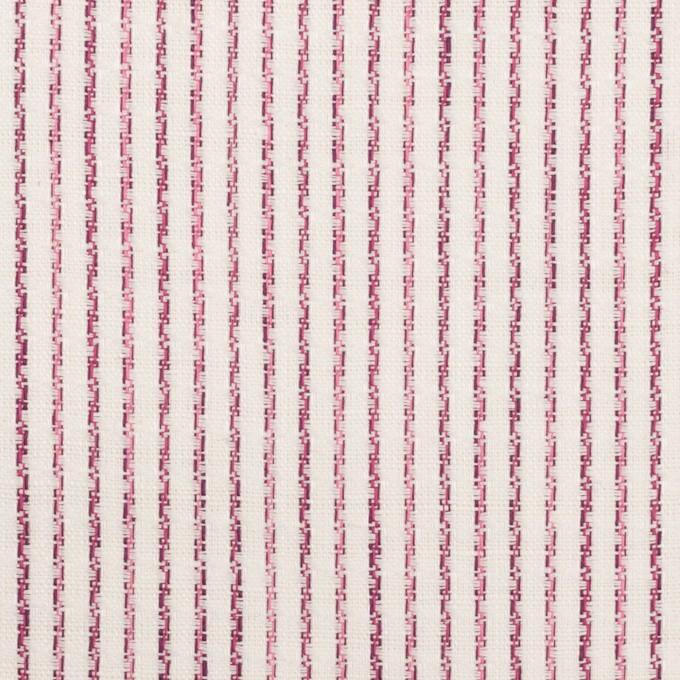 リネン&コットン×ストライプ(チェリーピンク)×薄キャンバス・ジャガード イメージ1