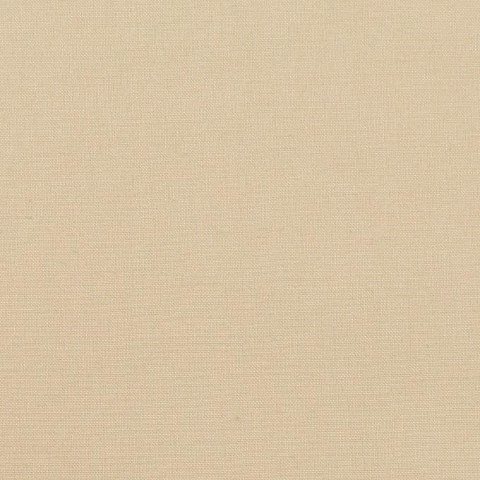 コットン×無地(ライトベージュ)×高密ポプリン イメージ1