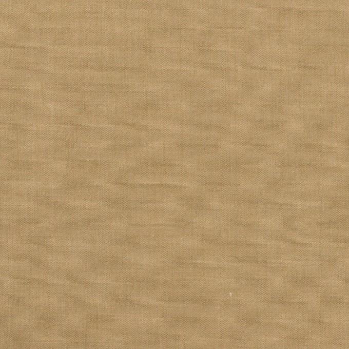 コットン&ナイロン×無地(カーキベージュ)×高密ポプリン・ワッシャー イメージ1