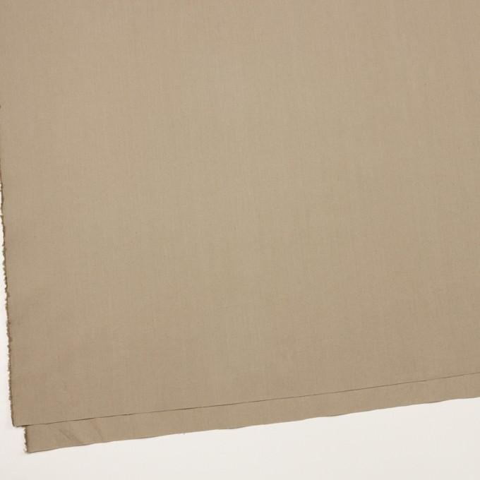コットン&リネン混×無地(グレイッシュベージュ)×ポプリンストレッチ イメージ2