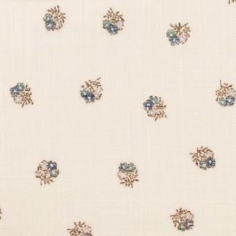 ラミー×フラワー(ブルー&エクリュ)×ボイル_全3色